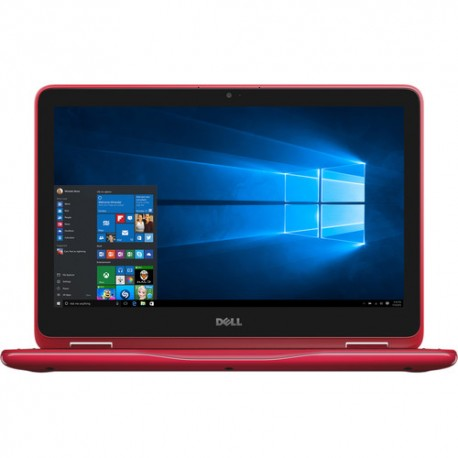 "Dell 11.6"" Inspiron 11 3000 Series Multi-Touch 2-in-1 Laptop - RED"